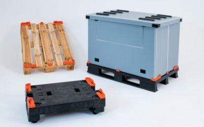 Kunststoffpalette oder Holzpalette wird zum Transportbehälter [Volumenreduzierbar]