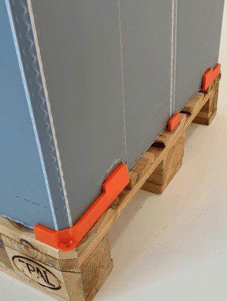Holzpalette wird zum klappbaren Transportbehälter auch für lose Gegenstände [einfache Montage]