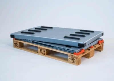 Alternative zu faltbaren Gitterboxen und Gitteraufsatzrahmen für Europaletten | Holzpalette wird zum Transportbehälter für lose Gegenstände | Holzpalette wird zum klappbaren Transportbehälter [Volumenreduzierbar]