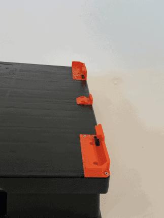 Kunststoffpalette mit ThorLock zum Umbau als Transportbehälter