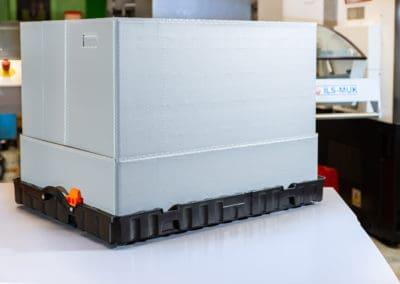 Kleinladungsträger KLT in variabler Höhe | auch mit Gefache und Inserts klappbar