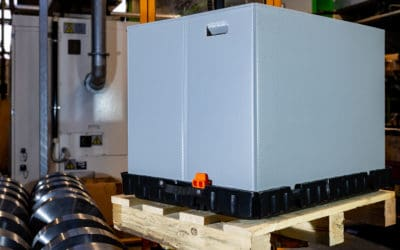 Kleinladungsträger 800 x 600 mit variabler Höhe  [Klappbarer KLT]