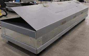 wi-sales ThorPak Quattro 2650 | Transport für Messebau Möbelvertäfelung Bauprofile | mit 2 Lagen Textilsystem - Stahlrahmen