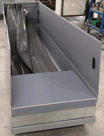 wi-sales ThorPak Quattro 2650   Transport für Messebau Möbelvertäfelung Bauprofile   mit 2 Lagen Textilsystem - 4 Handgriffe