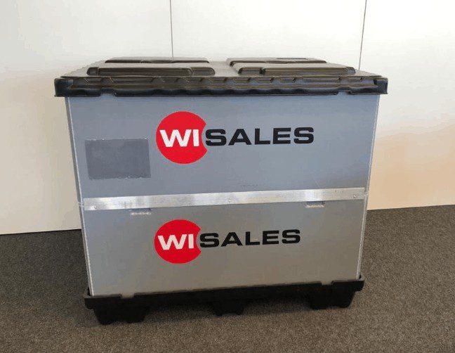 Transportbehälter einfache Handhabung [Für grosse Bauteile]