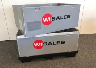 Ergonomischer Transportbehälter der bis zu 40% volumenreduziert werden kann und einfach in der Handhabung