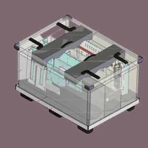 Transportbehälter für Schalttafeln als Grossladungsträger Ladungsträger Sonderladungsträger für Maschinenbau und Elektrotechnik Zeichnung wi-sales GmbH